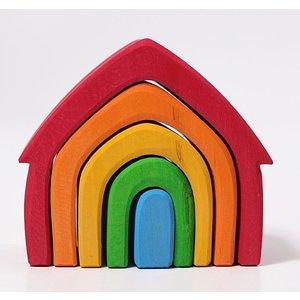 Grimms houten speelgoed Grimms Houten huis in bonte kleuren