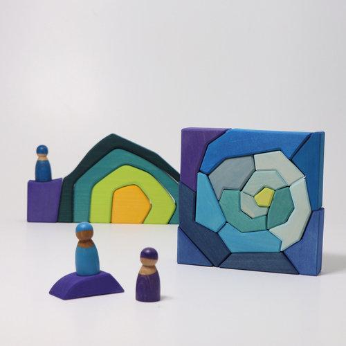 Grimms houten speelgoed  Grimms Blokkenset 4 temperamenten