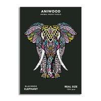 Aniwood puzzel olifant medium