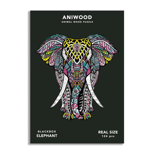 Aniwood Aniwood puzzel olifant medium
