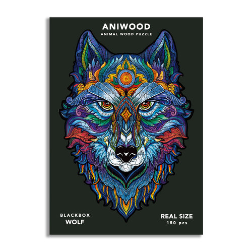 Aniwood Aniwood puzzel wolf medium