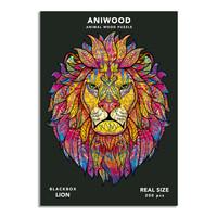 Aniwood puzzel leeuw large