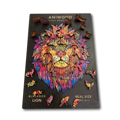 Aniwood Aniwood puzzle leeuw small
