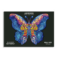Aniwood puzzel vlinder medium