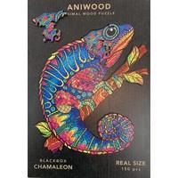 Aniwood puzzel kameleon medium