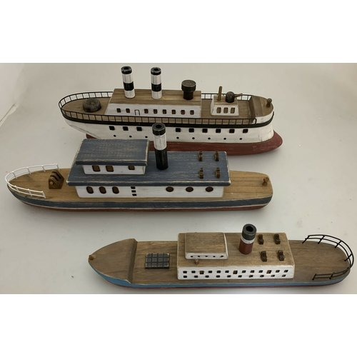 Papoose Toys Papoose Toys wooden boat set - 3 stuks