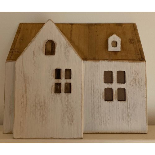 Papoose Toys Ppaoose Toys wooden houses - 10 stuks