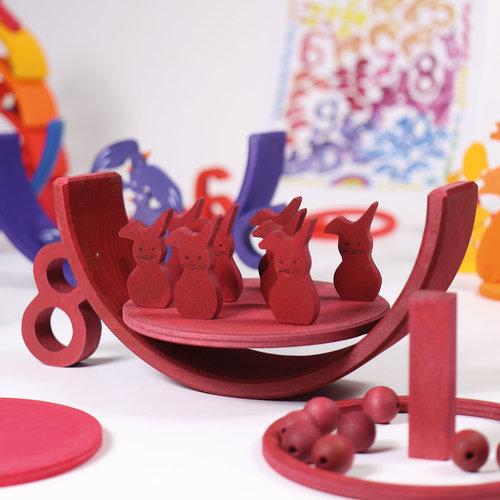Grimms houten speelgoed Grimms houten 10-delige regenboog - Counting