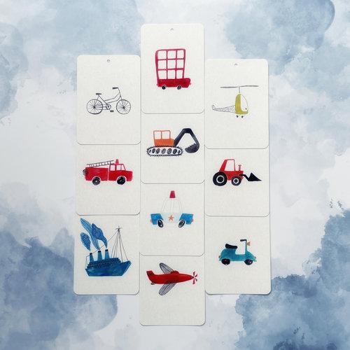 In a Flash Cards In a Flash kaartspel vervoer