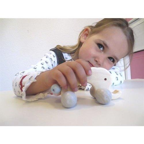 Voggenreiter kindermuziekinstrumenten Muzikaal kindervriendje houten olifant - Olli