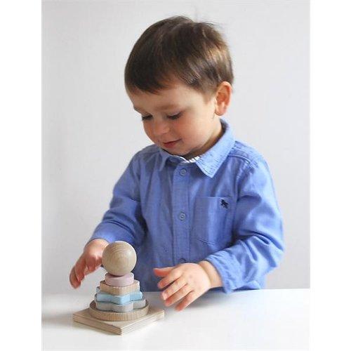 Voggenreiter kindermuziekinstrumenten Houten vormen stapeltoren - Tower