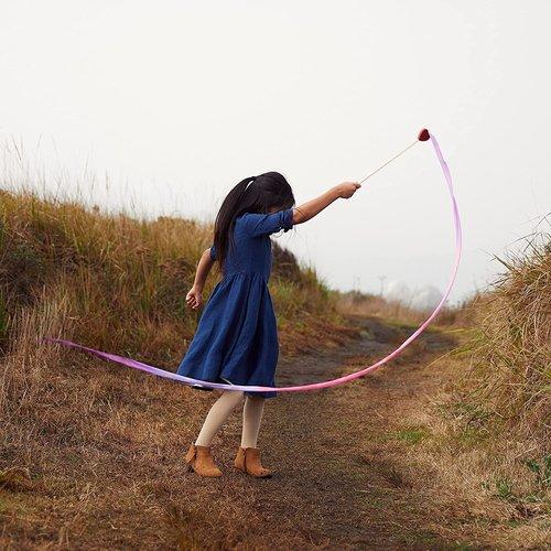 Sarah's Silks speelzijde Sarah's Silks zijden danslint  heart
