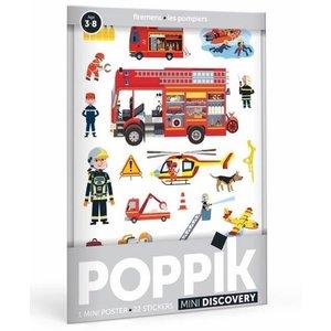 Poppik Poppik stickerposter mini brandweer