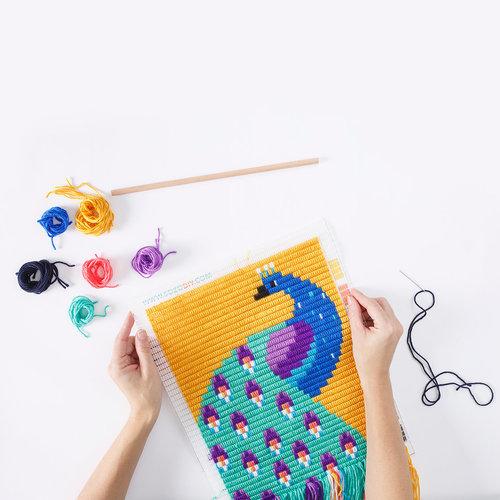 Sozo DIY DIY borduren - klein wandkleed Pauw