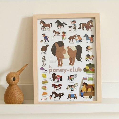 Poppik Poppik kleine stickerposter Pony club
