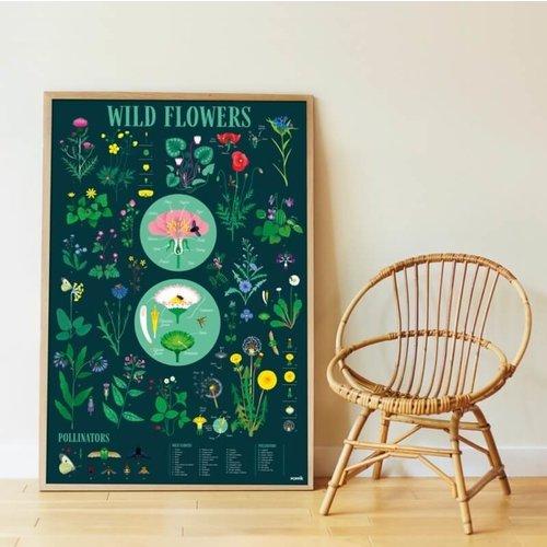 Poppik Poppik Discovery poster Botanisch -  bloemen