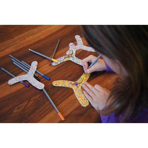 TicToys ecologisch beweegspeelgoed MyFibo - een boomerang voor binnen!