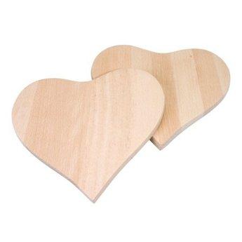 Pebaro knutselgereedschap Broodplankjes van hout hartvorm