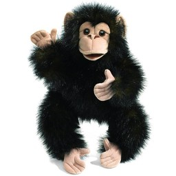 Folkmanis handpoppen en poppenkastpoppen Folkmanis handpop baby chimpansee