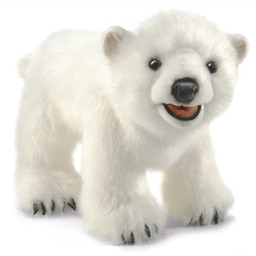Folkmanis handpoppen en poppenkastpoppen Folkmanis handpop ijsbeer