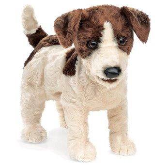 Folkmanis handpoppen en poppenkastpoppen Realistische Jack Russel - handpop hond