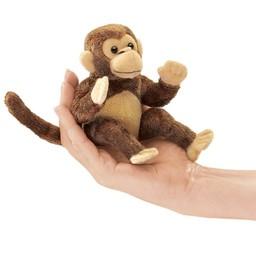 Folkmanis handpoppen en poppenkastpoppen Folkmanis vingerpopje aap