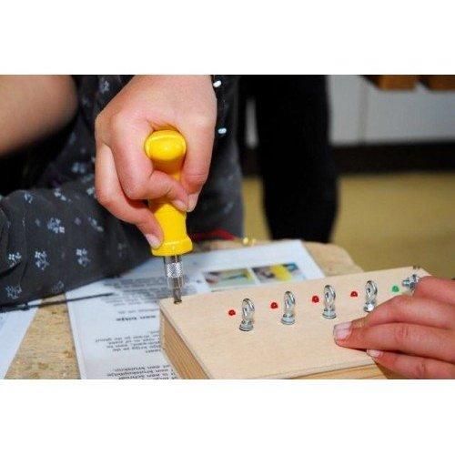 Toolkid® Ergonomische schroevendraaier met schroefbotjes, speciaal voor een kinderhand