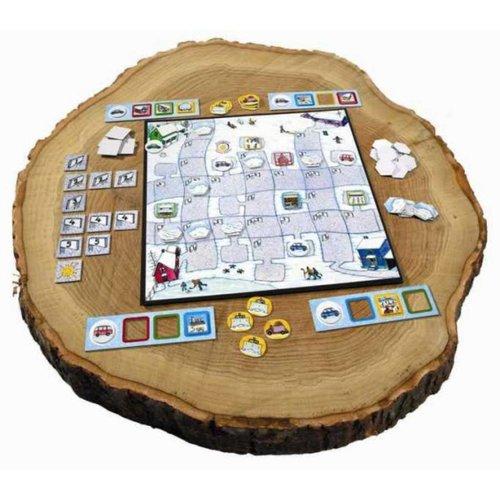 Sunny games - Zonnespel - coöperatieve spellen Winter - kijk uit voor gladheid!