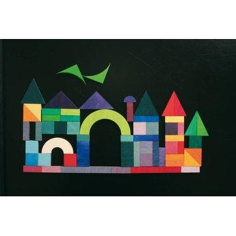 Grimms houten speelgoed Mini Magneetpuzzel geo Graphical
