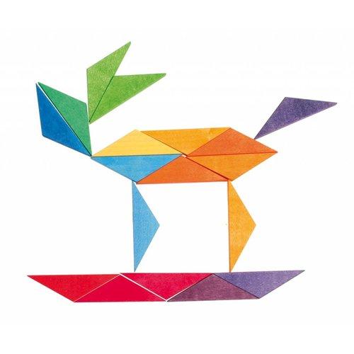 Grimms houten speelgoed Houten puzzel complementaire ster