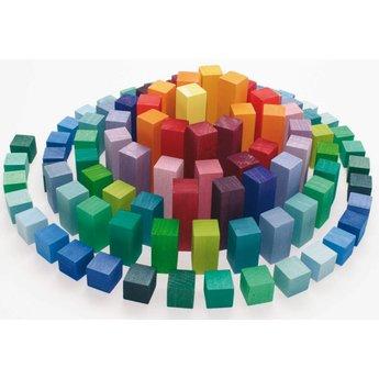 Grimms houten speelgoed Piramide om mee te bouwen en te rekenen