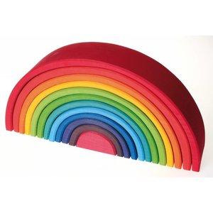 Grimms houten speelgoed Grimms Houten regenboog groot - 12 delig