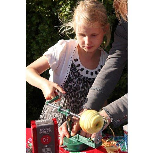 Kids at work kindergereedschap Appelschilmachine - appelschiller - zelf je appeltje schillen is 10 x lekkerder!
