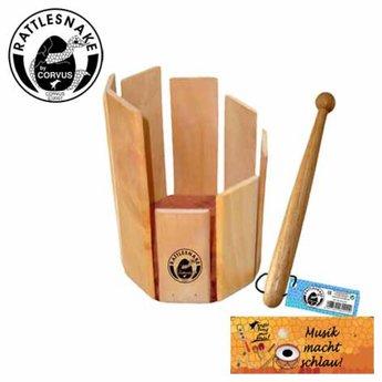 Rattlesnake muziekinstrumenten voor kinderen Roertrommel van hout