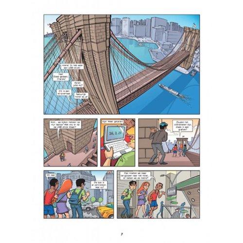 Wiskunde stripboek Nummers in New York