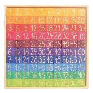 Grimms houten speelgoed Grimms Rekenblokjes reeks 1-200