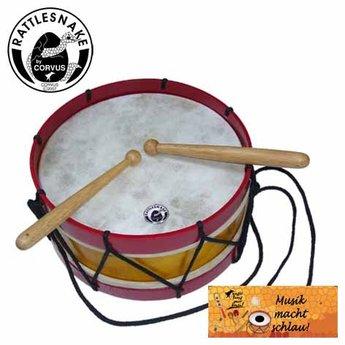 Rattlesnake muziekinstrumenten voor kinderen Kindertrommel met natuurvel en houten stokjes