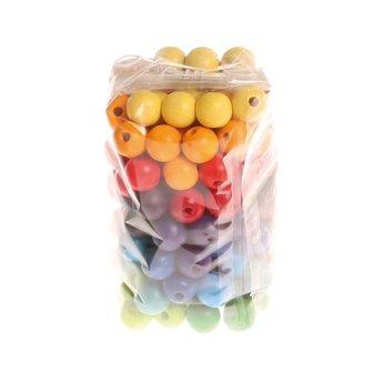 Grimms houten speelgoed Houten kralen in regenboog kleuren - 120 stuks