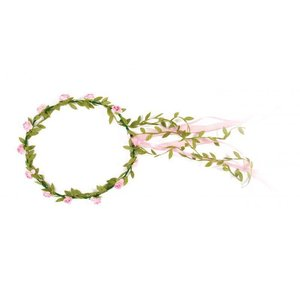 VAH - Spielzeugmanufaktur - kinderspeelgoed uit historische tijden VAH Bloemenkrans roze roosjes