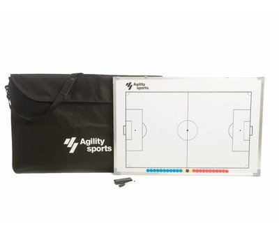Agility Sports coachbord voetbal 60 X 90 cm Incl genummerde stickers