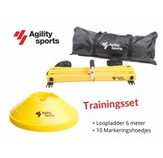 Agility Sports Trainingsset geel 6 meter