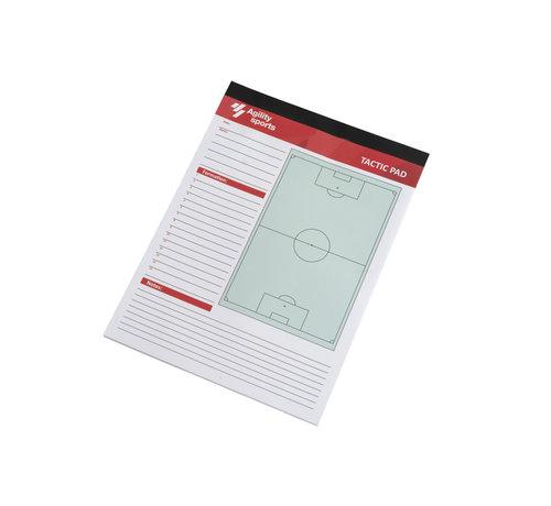 Agility Sports Tactiek Notitieblok Voetbal