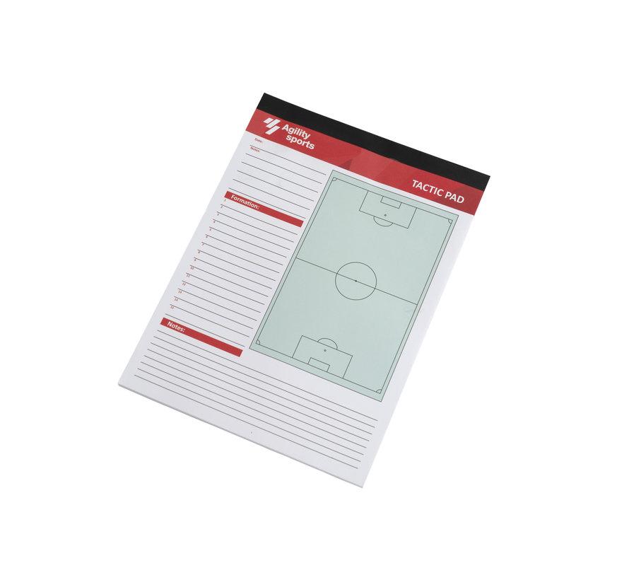 Tactiek Notitieblok Voetbal