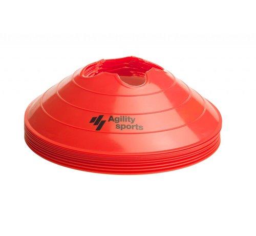 Agility Sports markeringshoedjes rood
