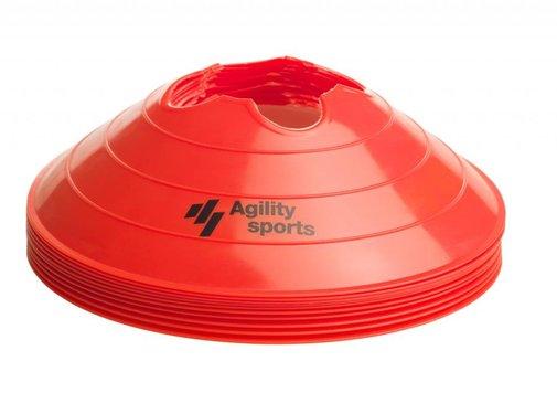 Agility Sports markeringshoedjes rood (10 stuks)
