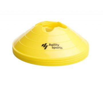 Agility Sports markeringshoedjes geel (10 stuks)