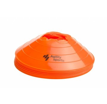 Agility Sports markeringshoedjes oranje (10 stuks)