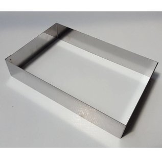 Taartrand rvs rechthoek 30-20 cm. diverse hoogtes - Copy