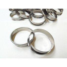 Tartelette ring 9 cm.  2 cm. hoog