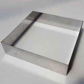 Rand Vierkant RVS 22-22 cm.